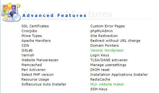 Vimexx Direct Admin
