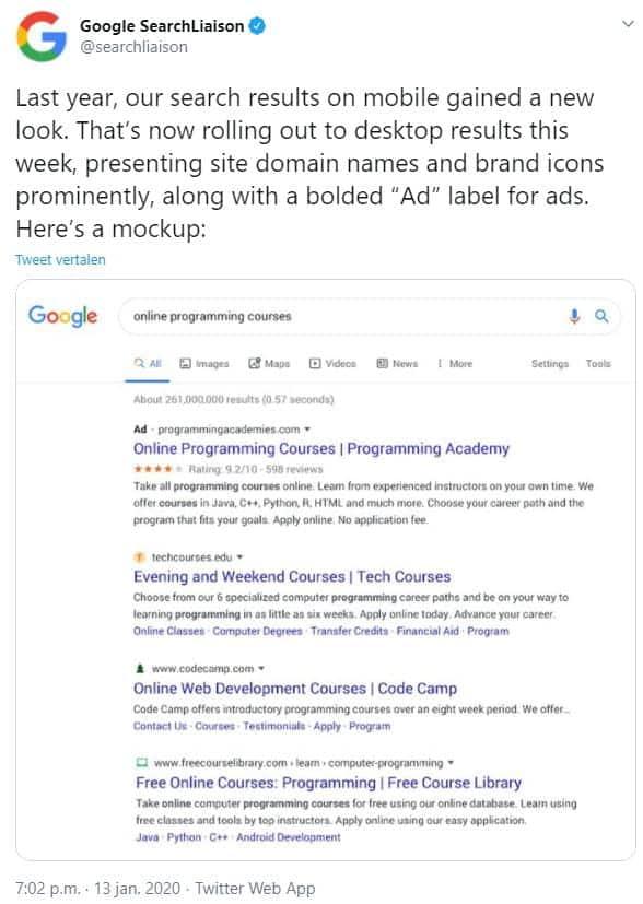Favicon in Google SERP